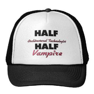 Medio vampiro del medio tecnólogo arquitectónico gorras de camionero