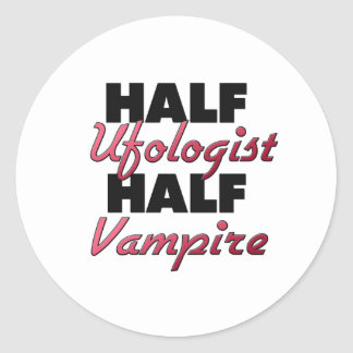 Medio vampiro del medio Ufologist Etiquetas Redondas
