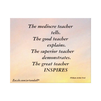 MEDIOCRE TEACHER WRAPPED CANVAS PRINT