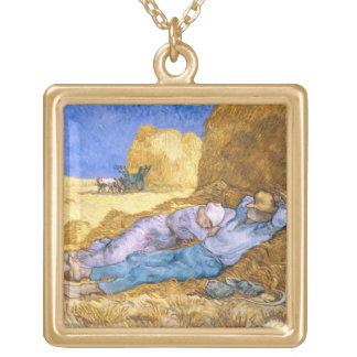 Mediodía, o la siesta, después del mijo, 1890 colgante cuadrado