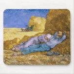 Mediodía, o la siesta, después del mijo, 1890 tapete de ratón