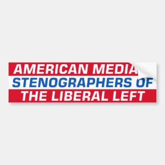 Medios americanos - izquierda liberal pegatina para auto