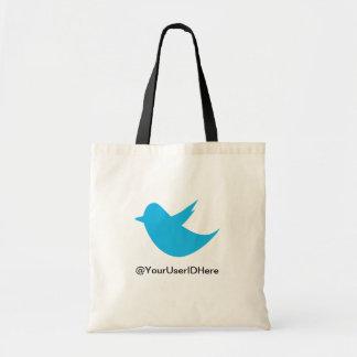Medios azules del Social del pájaro Bolsa Tela Barata