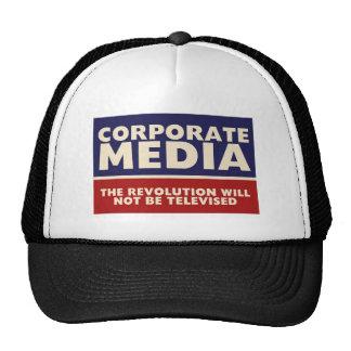 Medios corporativos gorras