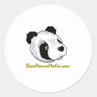 Medios de BearManor Pegatina Redonda