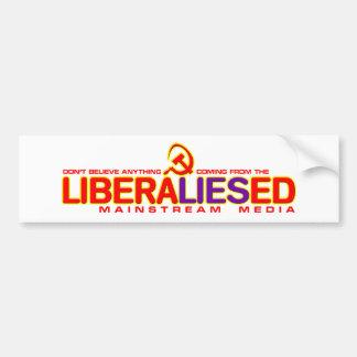 Medios de la corriente principal de LiberaLIESed Pegatina De Parachoque