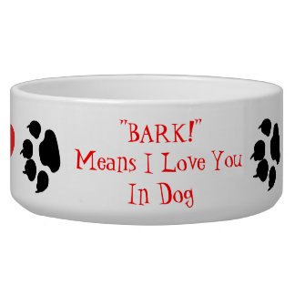 Medios de la CORTEZA te amo en perro Comedero Para Mascota