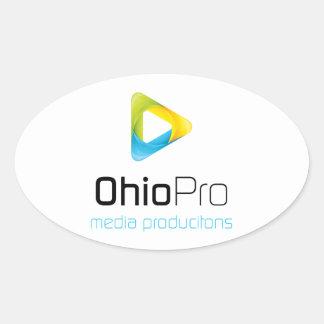 Medios de OhioPro y producciones video Pegatinas De Óval