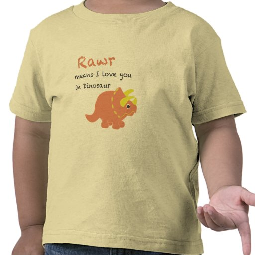 Medios de Rawr te amo Camisetas