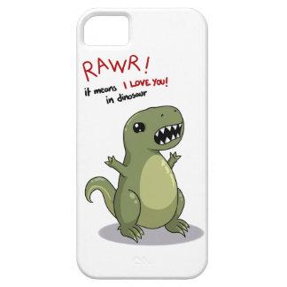 Medios de Rawr te amo en dinosaurio iPhone 5 Carcasa