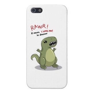 Medios de Rawr te amo en dinosaurio iPhone 5 Fundas