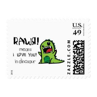 Medios de Rawr te amo en dinosaurio Sellos
