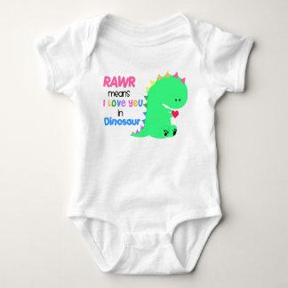 Medios de Rawr te amo en enredadera del bebé del Tshirts