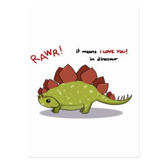 Medios de Rawr te amo en Stegosaurus del Postales
