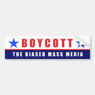 Medios del boicoteo pegatina de parachoque