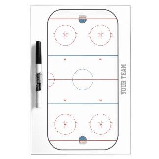 Medios detallados de la pista del hockey secan al pizarra blanca