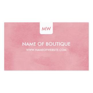 Medios elegantes rosados simples del Social del Tarjetas De Visita