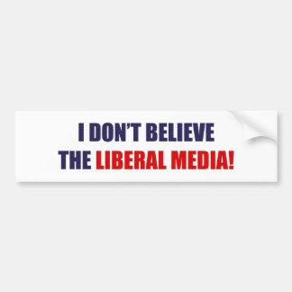 Medios liberales pegatina de parachoque
