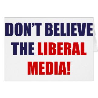 Medios liberales tarjeta de felicitación