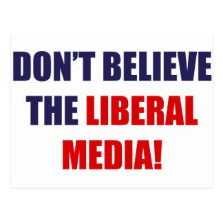 Medios liberales tarjeta postal