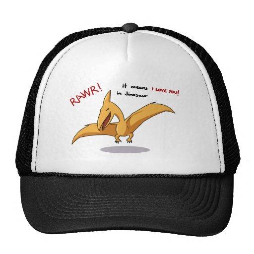 medios lindos del rawr del dinosaurio te amo gorras de camionero