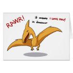 medios lindos del rawr del dinosaurio te amo tarjeton