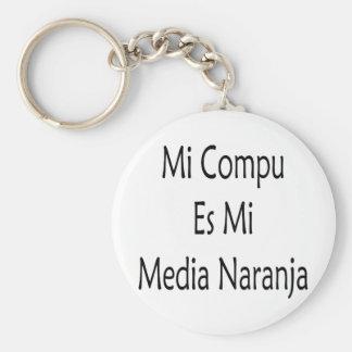 Medios Naranja del MI Compu Es MI Llavero Personalizado