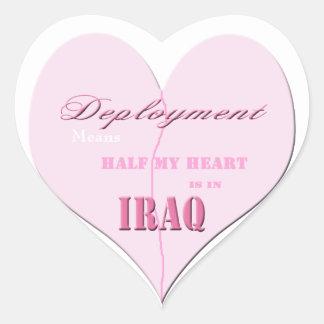 Medios pegatinas rosados de Iraq del despliegue