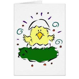 Medios remolinos de la hierba del huevo del tarjeta pequeña