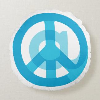 Medios sociales de la muestra azul del @Peace en Cojín Redondo