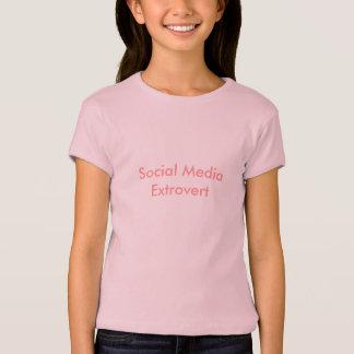 Medios sociales extroversos playera