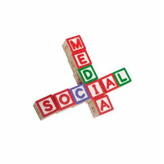 Medios sociales fotoescultura vertical