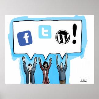 ¡Medios sociales FTW! Póster