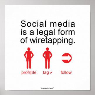 Medios sociales posters