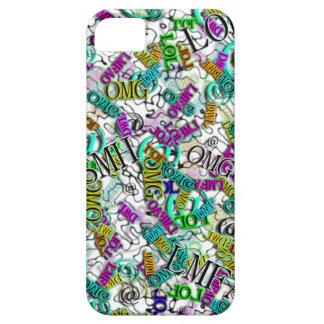 Medios sociales Slanguage de SMH OMG DWL LOL LMFAO iPhone 5 Case-Mate Protector