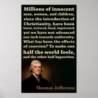 Medios tontos de Thomas Jefferson el |, medios hip Impresiones