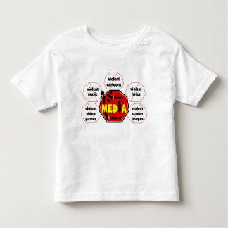 medios Violence© del silencio de la T-camisa-Yo Playera De Niño