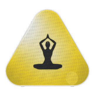 Meditación amarilla del zen altavoz bluetooth