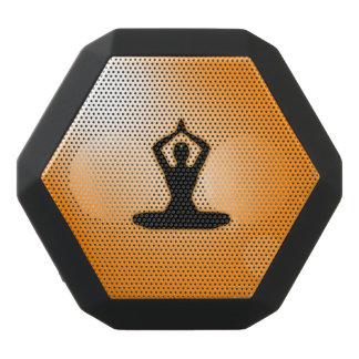 Meditación anaranjada del zen altavoces bluetooth negros boombot REX
