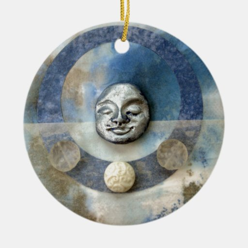 Meditación azul de Enso - collage Ornamente De Reyes