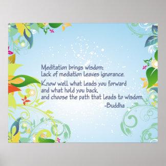 Meditación Buda Poster