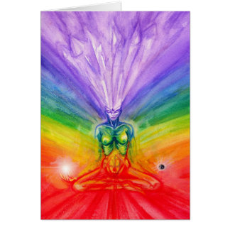 Meditación de Chakra Tarjeta De Felicitación