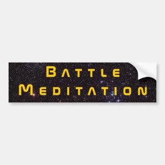 Meditación de la batalla etiqueta de parachoque