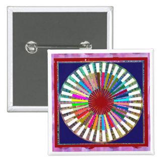 Meditación de la fuente de luz de CHAKRA Pin Cuadrada 5 Cm