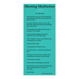 Meditación de la mañana lonas