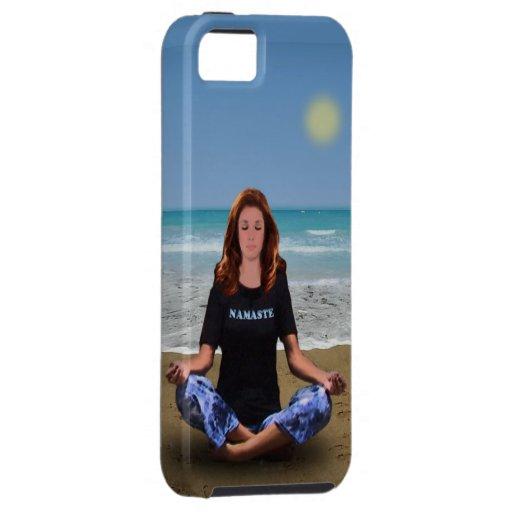 Meditación de la playa funda para iPhone SE/5/5s
