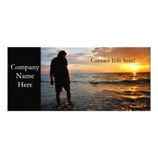 Meditación de la puesta del sol tarjetas publicitarias personalizadas