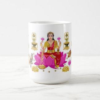 Meditación de la riqueza tazas de café