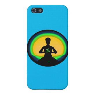 Meditación de la yoga - caja azul del iPhone iPhone 5 Protector