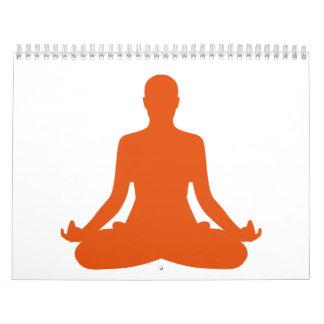 Meditación de la yoga calendario